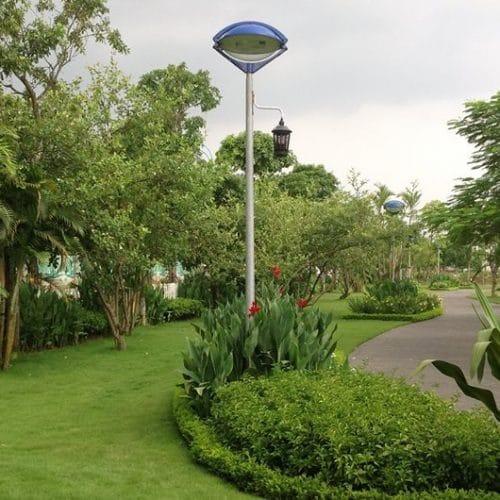 Cột đèn sân vườn con mắt