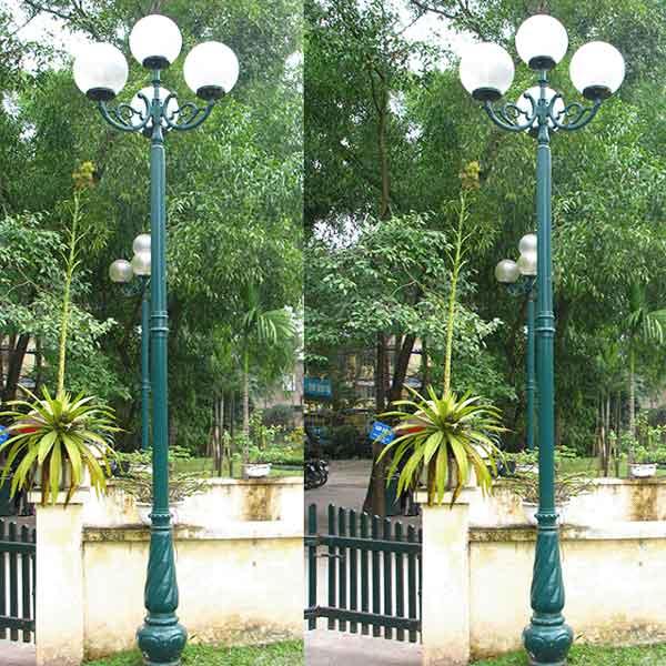 Cột đèn trang trí sân vườn 4 bóng Banian