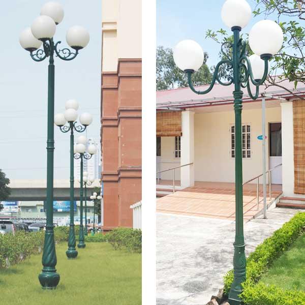 Cột đèn trang trí sân vườn 4 bóng