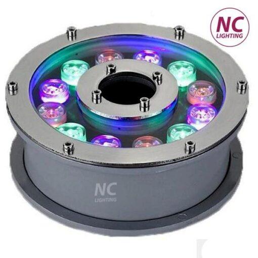 đèn led âm nước RGB bánh xe