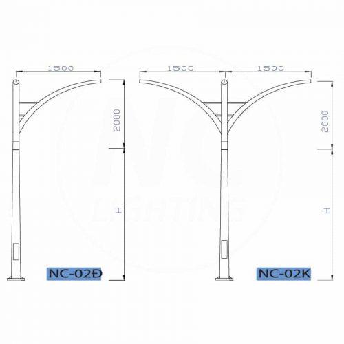cột đèn cao áp nc02-01-org