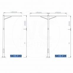 cột đèn sân vườn NC 12-01-org
