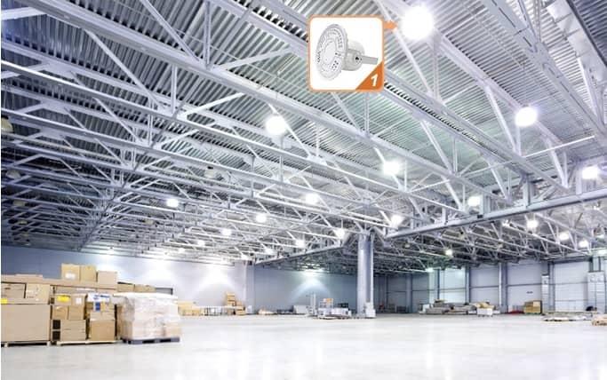 Đèn LED nhà xưởng tại Hải Dương