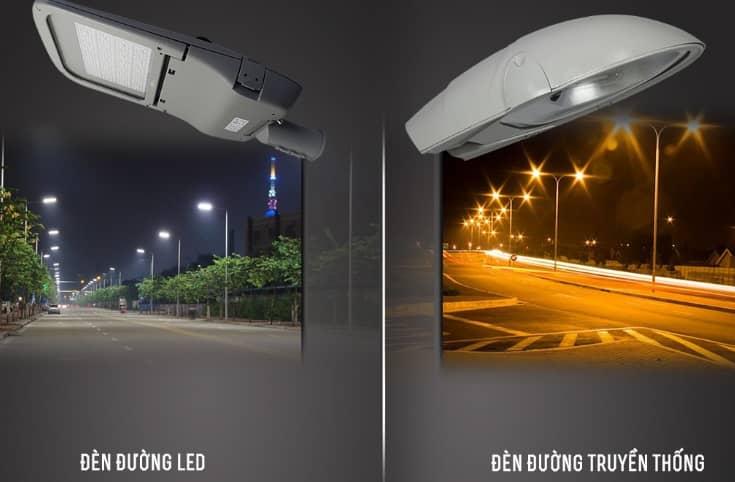 đèn đường led và đèn đường truyền thống