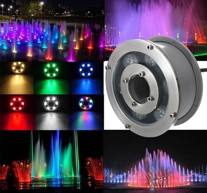 đèn led âm nước Rgb