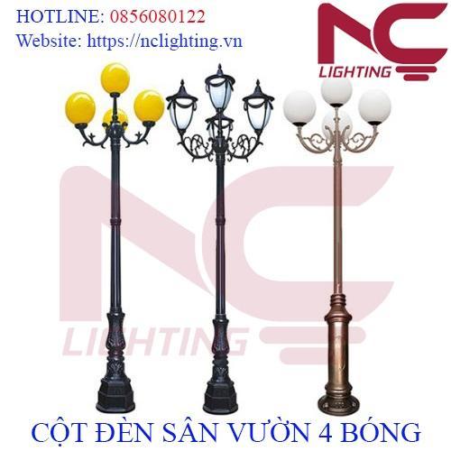 Cột đèn sân vườn 4 bóng