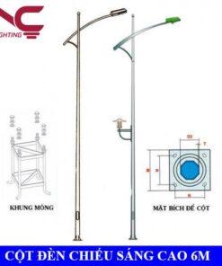 Cột đèn chiếu sáng cao 6m