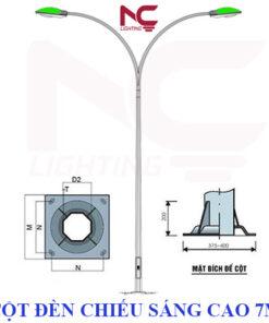 Cột đèn chiếu sáng cao 7m