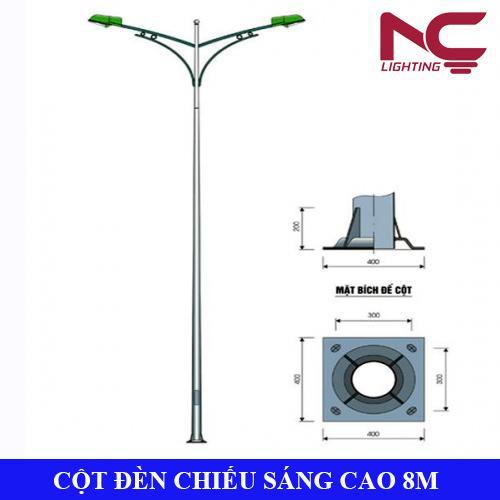 Cột đèn chiếu sáng cao 8m