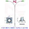 Cột đèn đường chiếu sáng cao 9m
