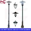 Cột đèn trang trí sân vườn Bamboo