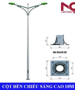Trụ đèn chiếu sáng cao áp 10m