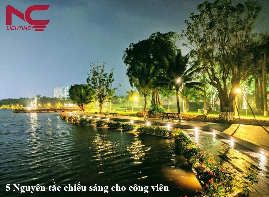 5 Nguyên tắc chiếu sáng cho công viên